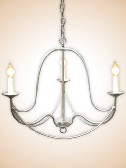 3 Arm Handcrafted Chandelier Available in any color