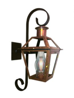 Bourbon St. Lantern with Chartres Scroll Bracket