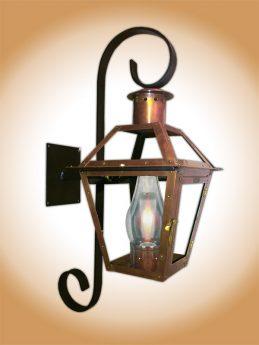 Bourbon St. Lantern with Chartres Scroll Bracket