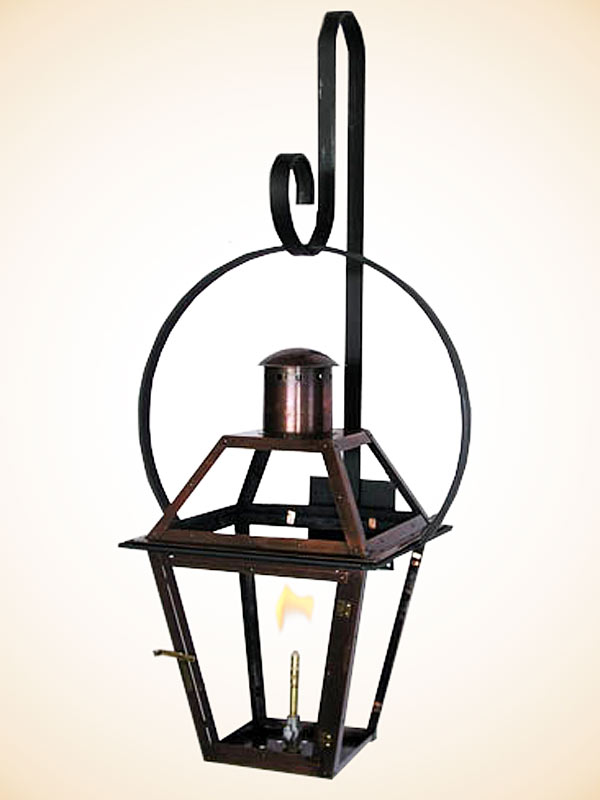 Gas Wall Mount Lanterns : Flambeaux French Quarter style Wall Mount Yoke Bracket for Gas Lantern Copper Gas & Electric ...