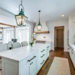 Custom interior lighting featuring aged patina & custom electric lighting